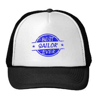 El mejor marinero siempre azul gorro de camionero