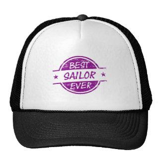 El mejor marinero siempre púrpura gorros bordados