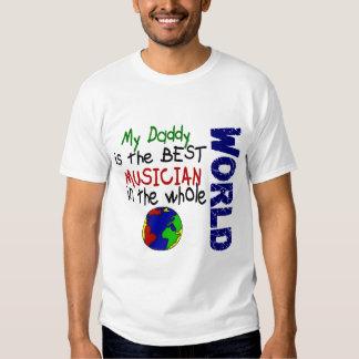El mejor músico en el mundo 2 (papá) camisetas