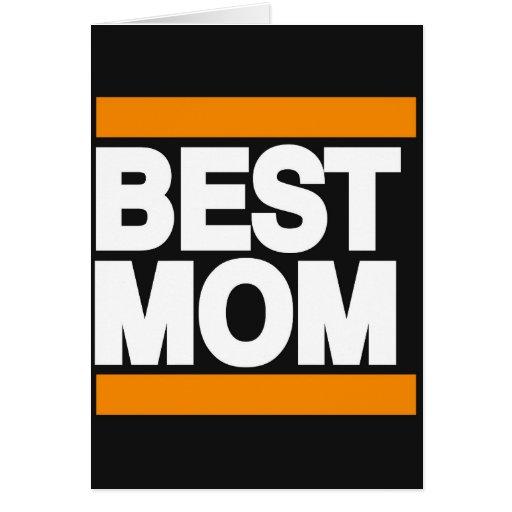 El mejor naranja de la mamá felicitación
