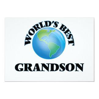 El mejor nieto del mundo invitación 12,7 x 17,8 cm