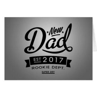 El mejor nuevo papá 2017 tarjeta de felicitación