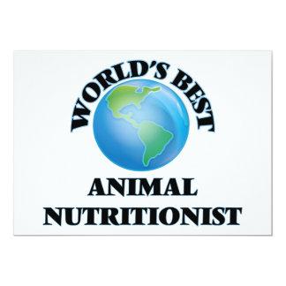 El mejor nutricionista animal del mundo invitación 12,7 x 17,8 cm