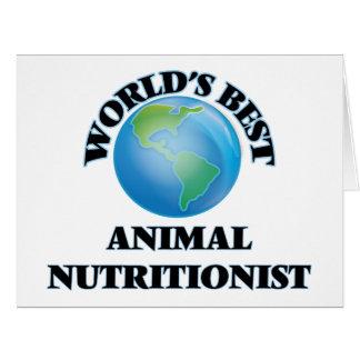 El mejor nutricionista animal del mundo tarjetas
