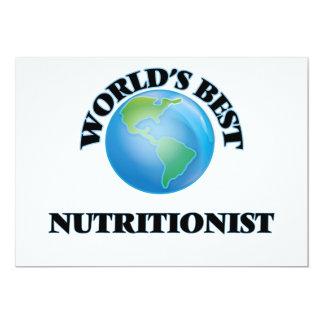 El mejor nutricionista del mundo invitación 12,7 x 17,8 cm
