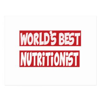 El mejor nutricionista del mundo tarjeta postal