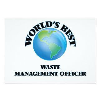 El mejor oficial de la gestión de desechos del invitación 12,7 x 17,8 cm