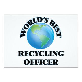 El mejor oficial de reciclaje del mundo invitación 12,7 x 17,8 cm