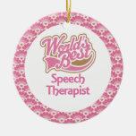 El mejor ornamento del regalo del terapeuta del di ornamento de navidad