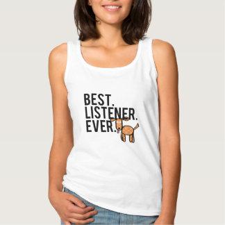 El mejor. Oyente. Nunca. Las camisetas sin mangas
