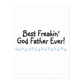 El mejor padre de dios de Freakin nunca Tarjetas Postales