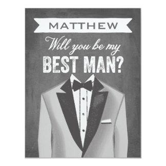 El mejor padrino de boda del hombre el   de la invitación 10,8 x 13,9 cm