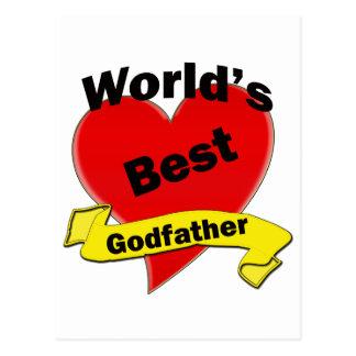 El mejor padrino del mundo tarjeta postal