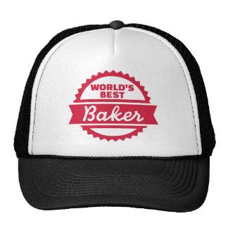 El mejor panadero del mundo gorros bordados