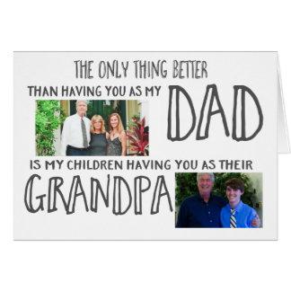 ¡El mejor papá, abuelo de Bestest! Tarjeta De Felicitación