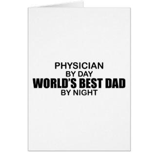 El mejor papá del mundo - médico felicitación