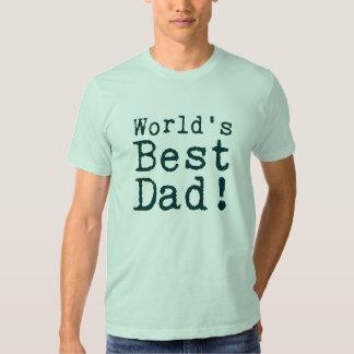 El mejor papá del mundo verde camisas