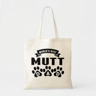 El mejor papá del Mutt del mundo Bolsa Tela Barata