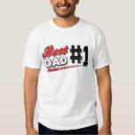 El mejor papá del vintage camiseta