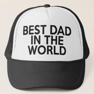 El mejor papá en el gorra del camionero del mundo