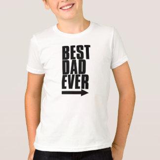El mejor papá nunca camiseta
