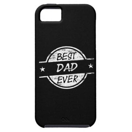El mejor papá siempre blanco iPhone 5 Case-Mate cobertura