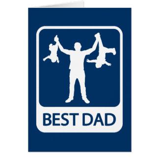 El mejor papá - tarjeta del día/del cumpleaños de