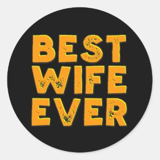 El mejor pegatina de la esposa nunca