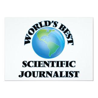 El mejor periodista científico del mundo invitación 12,7 x 17,8 cm