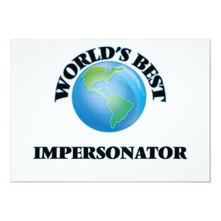 El mejor personificador del mundo invitación 12,7 x 17,8 cm