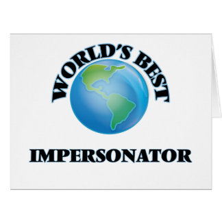 El mejor personificador del mundo tarjeta de felicitación grande