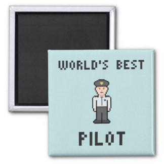 El mejor piloto del mundo imán cuadrado
