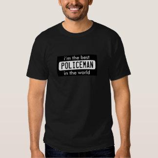 el mejor policía del trabajador del empleo del camiseta