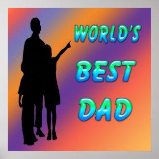 El mejor poster del papá del mundo