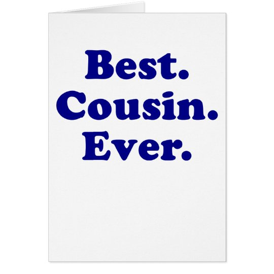 El mejor primo nunca tarjeta de felicitación