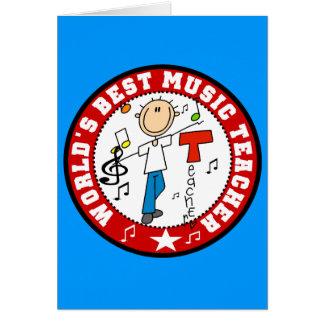 El mejor profesor de la música del mundo tarjeta de felicitación