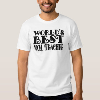 El mejor profesor del gimnasio del mundo camisetas