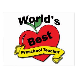 El mejor profesor preescolar del mundo postal