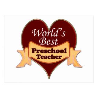 El mejor profesor preescolar del mundo postales