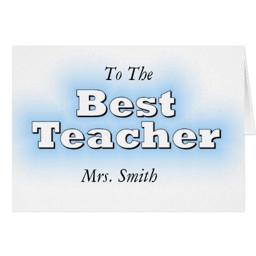 El mejor profesor tarjeton