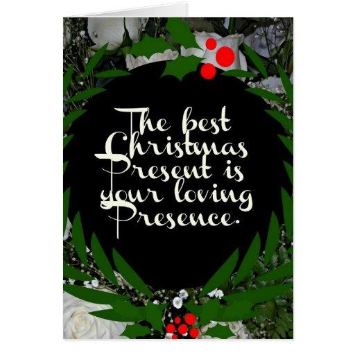 El mejor regalo de Navidad es su presencia cariños Felicitacion
