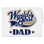 El mejor regalo del papá del mundo fresco tarjeta