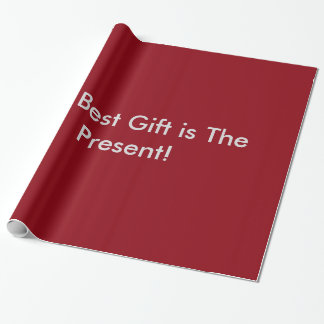 El mejor regalo es el actual papel de embalaje papel de regalo