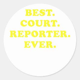 El mejor reportero de corte nunca pegatina redonda