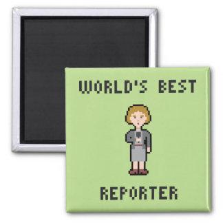 El mejor reportero de sexo femenino del pixel imán cuadrado