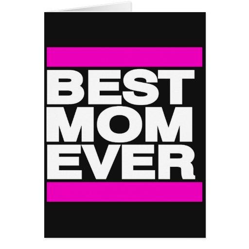 El mejor rosa de la mamá nunca tarjetas