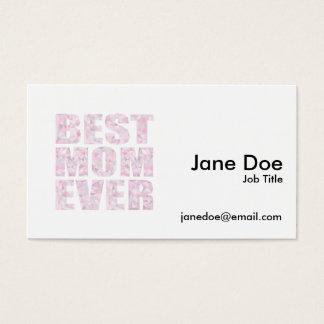 El mejor rosa de la mamá nunca - triángulo tarjeta de negocios