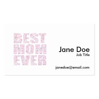 El mejor rosa de la mamá nunca - triángulo tarjetas de visita
