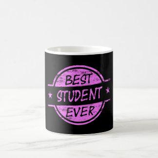 El mejor rosa del estudiante nunca taza de café