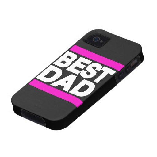 El mejor rosa del papá vibe iPhone 4 carcasa
